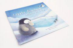 英文童话书刊印刷设计-LITTLE PENGUIN LEARNS TO SEIM