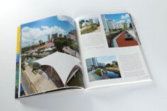 杂志印刷设计排版-新国际景观