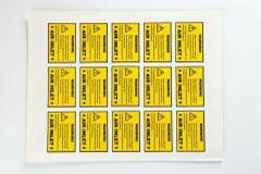 不干胶印刷设计定制-警示标签