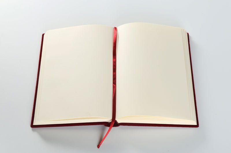 笔记本印刷设计定制-红色绒面1