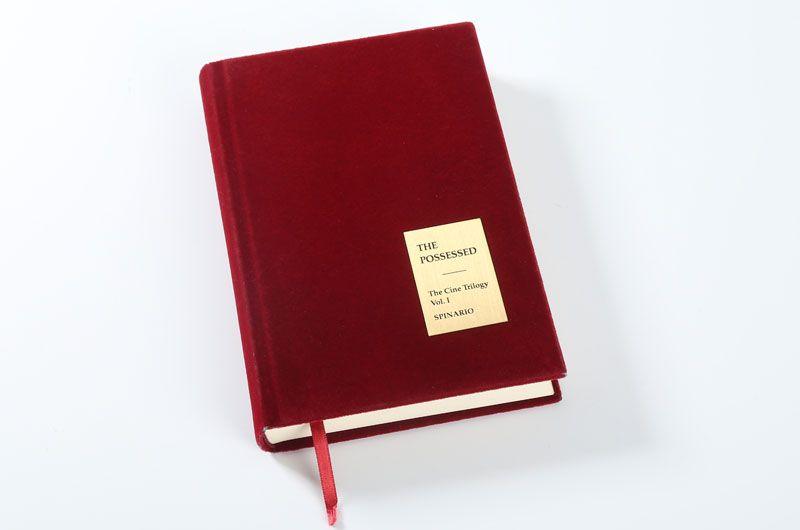 笔记本印刷设计定制-红色绒面4