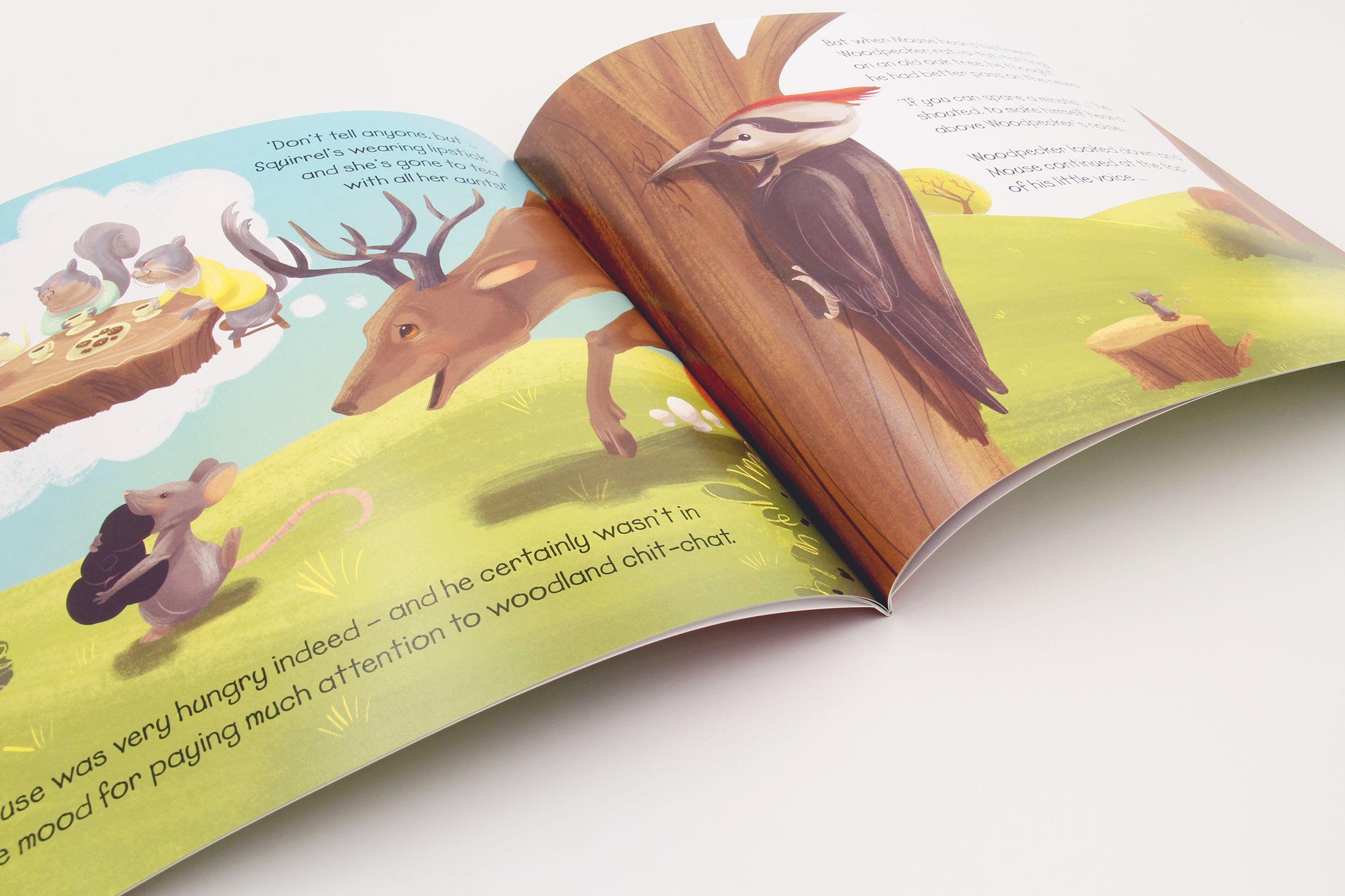 英文童话书刊印刷设计1